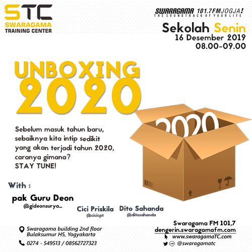 Unboxing 2020 – Sekolah Senin 16 Desember 2019