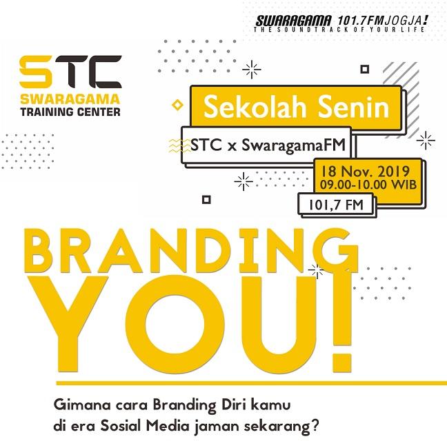 Branding You – Sekolah Senin 18 November 2019
