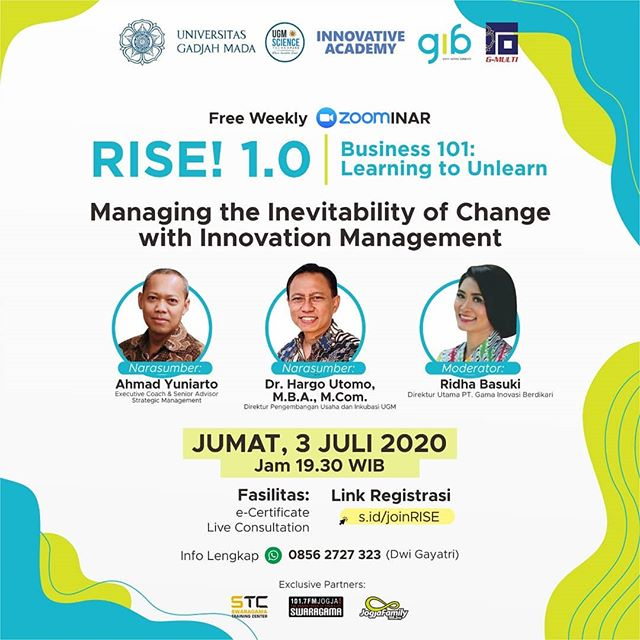 RISE 1.0 : Managing the Inevitability of Change with Innovation Management.