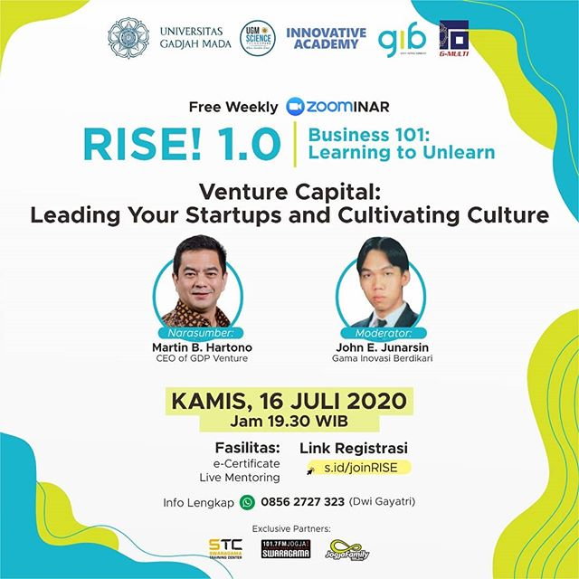 "RISE! 1.0 Business 101: ""Venture Capital: Leading Your Startup And Cultivating Culture."""