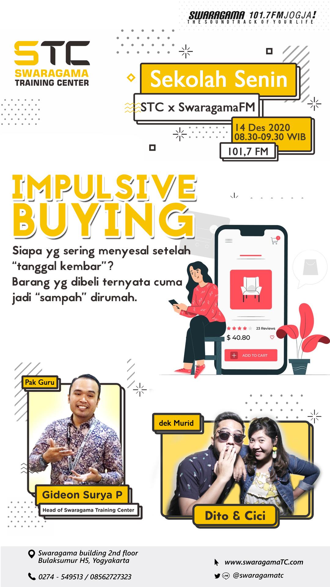 Impulsive Buying (gimana cara mengendalikannya) – Sekolah Senin 14 Desember 2020