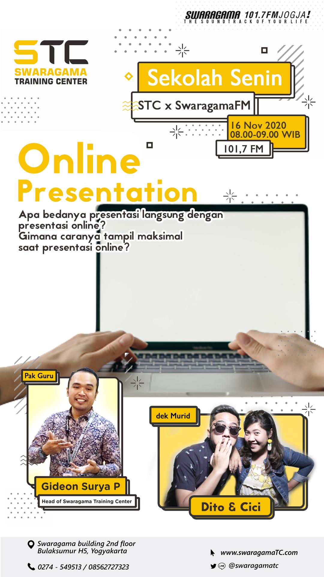 Online Presentation – Sekolah Senin 16 November 2020